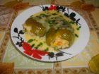Рецепта за Чушки пълни с ориз и кайма и бял сос
