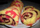 Рецепта за Цветно руло със сладко