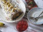 Рецепта за Орехово руло с банани, крем и шоколад