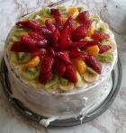 Рецепта за Сметанова торта с плодове