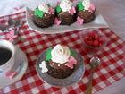 Рецепта за Мини шоколадови торти с малини и маскарпоне