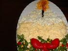 Рецепта за Празнична салата `Свещ за Новогодишната нощ`