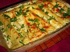 Рецепта за Канелони с плънка от спанак и извара в бешамел