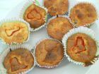 Рецепта за Солени мъфини с червена чушка, сирене и царевица