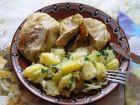 Рецепта за Свински пържоли в зелев лист
