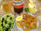 Рецепта за Панирани калмари с бира