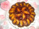 Рецепта за Обърнат сладкиш с вишни и праскови