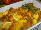 Рецепта за Печено пилешко с картофки и розмарин