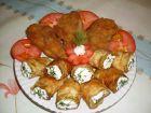 Рецепта за Паниран заек с рулца от тиквички, пълнени с катък, чесън и копър