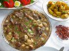 Рецепта за Телешки филенца с гъбен сос и бекон