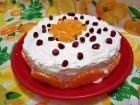 Рецепта за Тортичка с бишкоти, плодове и сметана