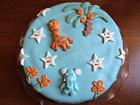 Рецепта за Торта с глазура от захарен фондан `Веселата джунгла`